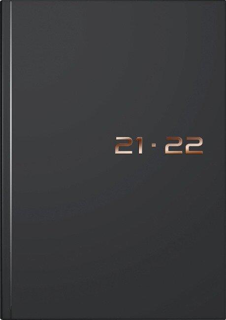 rido/idé 7021503902 Wochenkalender 2021/2022 A5, 18 Monate Kalendarium Juli 2021 - Dezember 2022, Kunststoff-Einband schwarz -