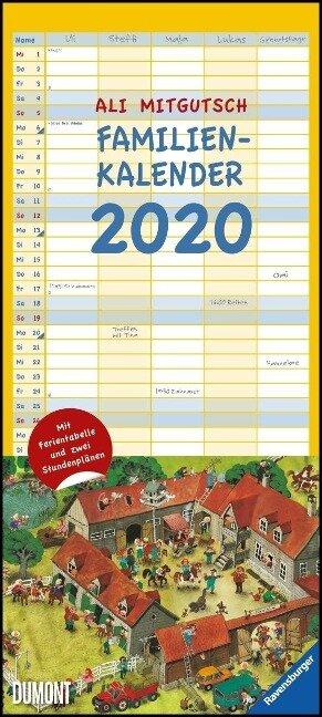 Ali Mitgutsch Familienkalender 2020 - Wandkalender - Familienplaner mit 5 Spalten - Ali Mitgutsch