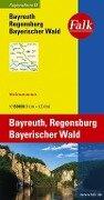 Falk Regionalkarte 13. Bayreuth, Regensburg, Bayerischer Wald. 1 : 150 000 -