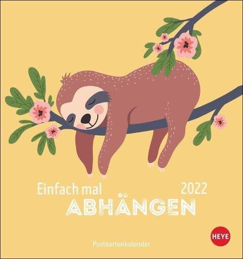 Faultier Postkartenkalender Kalender 2022 -