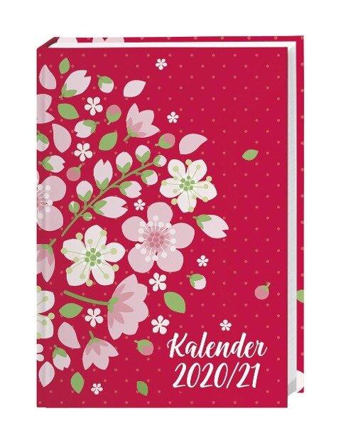 Floral 17-Monats-Kalenderbuch A5 - 2021 -