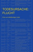 Todesursache: Flucht - Heinrich Bedford-Strohm, Carlos Collado Seidel, Heribert Prantl, Rolf Gössner, Stephan Lessenich