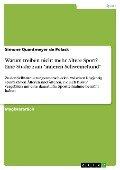 """Warum treiben nicht mehr Ältere Sport? Eine Studie zum """"inneren Schweinehund"""" - Simone Quantmeyer de Polack"""