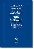 Gesammelte Werke 1 - Hans-Georg Gadamer