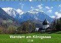 Wandern am Königssee (Wandkalender 2018 DIN A3 quer) - Carmen Vogel