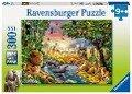 Abendsonne am Wasserloch. Puzzle 300 Teile -