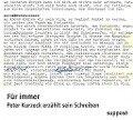 Für immer - Peter Kurzeck, Klaus Sander
