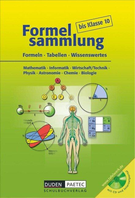 Formelsammlung bis Klasse 10 mit CD-ROM -