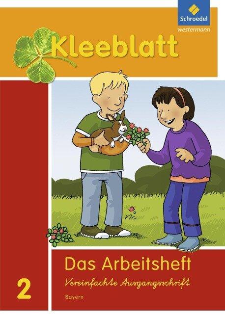 Kleeblatt. Das Sprachbuch 2. Arbeitsheft 1/2 + Beilage Wörterkasten. Bayern -