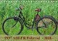 1937 ADLER Fahrrad (Tischkalender 2018 DIN A5 quer) - Dirk Herms
