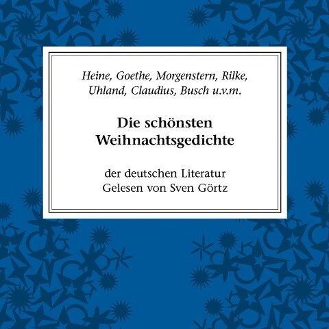 Wilhelm Busch Weihnachtsgedichte.Die Schönsten Weihnachtsgedichte Der Deutschen Literatur