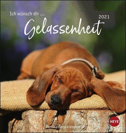 Ich wünsch dir... Gelassenheit 2021 Postkartenkalender -