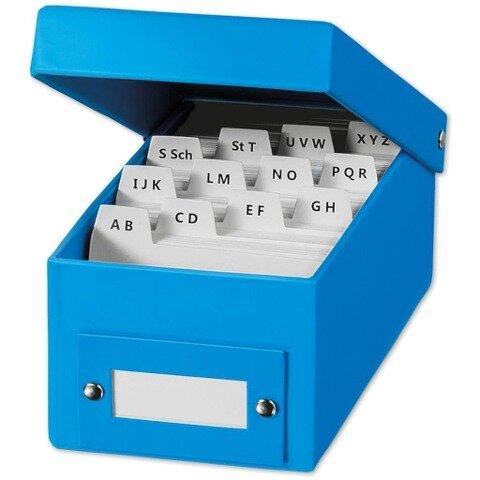 Lernbox - blau DIN A8 -