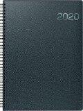 Brunnen Buchkalender 2019 schwarz Metallico A4, Modell 763 Wire-O -
