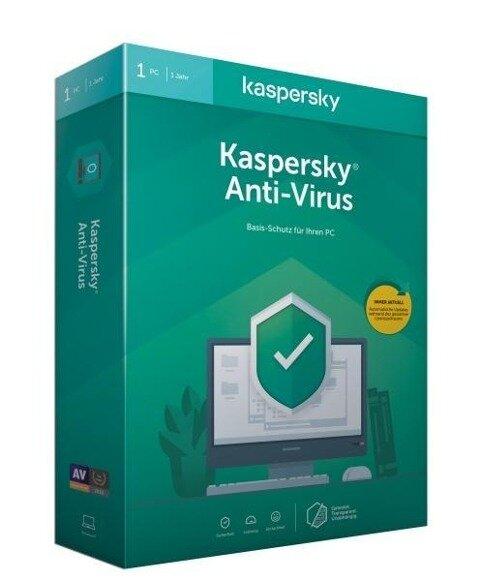 Kaspersky Anti-Virus (Code in a Box). Für Windows 7/8/10 -