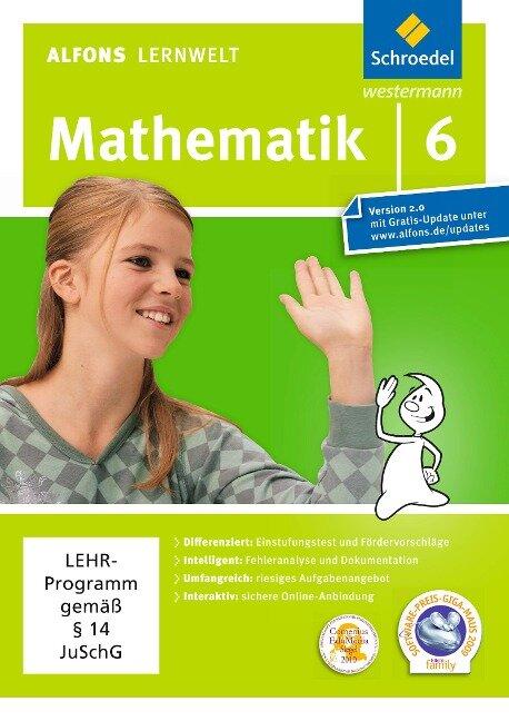 Alfons Lernwelt Lernsoftware Mathematik 6. CD-ROM für Windows 7; Vista; XP und Mac -
