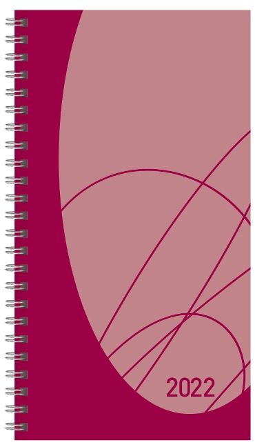 Taschenkalender Modus XL Flexi Colourlux berry 2022 -