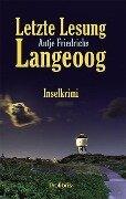 Letzte Lesung Langeoog - Antje Friedrichs