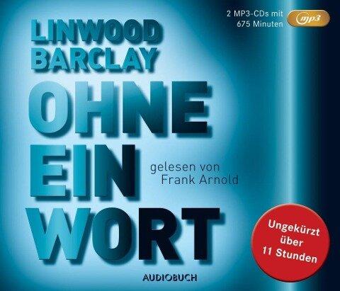 Ohne eine Wort (MP3-CD) - Linwood Barclay