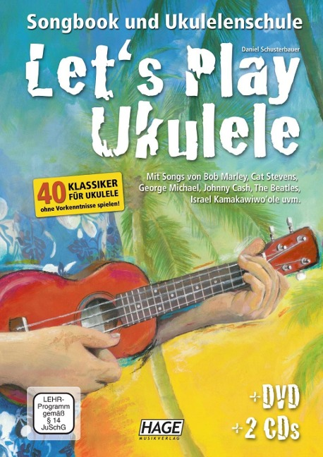 Let's Play Ukulele mit 2 CDs + DVD - Daniel Schusterbauer