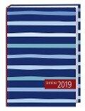 times & more Kalenderbuch 2019 Streifen blau -