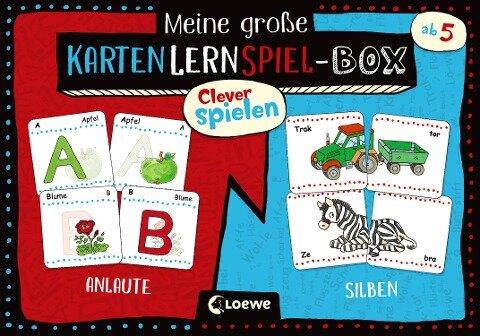 Clever spielen - Meine große KartenLernSpiel-Box - Anlaute/Silben -