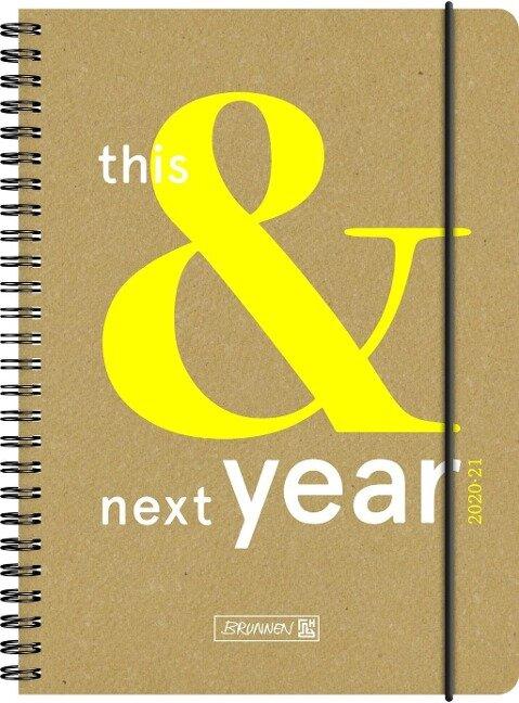 BRUNNEN 1072130131 Wochenkalender/Schülerkalender 2020/2021 This&Next -
