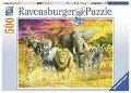 Afrikanische Tiere. Puzzle 500 Teile -