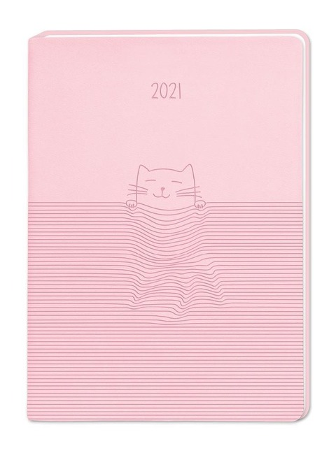 "Terminplaner Lederlook A6 ""Rosa"" 2021 -"