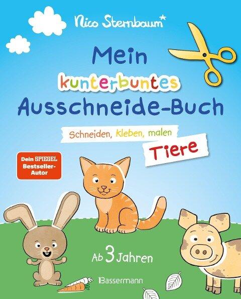 Mein kunterbuntes Ausschneidebuch - Tiere. Ausschneiden, ausmalen, kleben. Ab 3 Jahren - Nico Sternbaum
