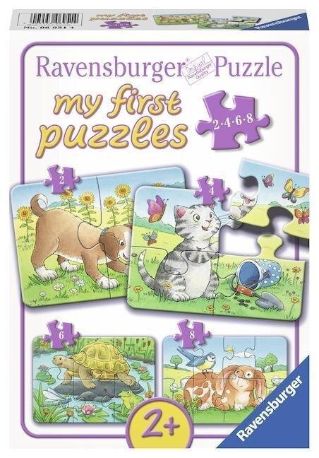 Niedliche Haustiere. My first Puzzle. 4 Motive -