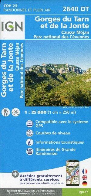 2640OT Gorges du Tarn et de la Jonte.Causse Méjan.PN des Cévennes 1:25 000 -