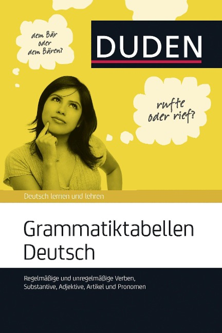 Grammatiktabellen Deutsch -