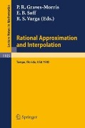 Rational Approximation and Interpolation -