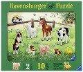 Heimische Tierkinder. Holzpuzzle 10 Teile -