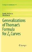 Generalizations of Thomae's Formula for Zn Curves - Hershel M. Farkas, Shaul Zemel