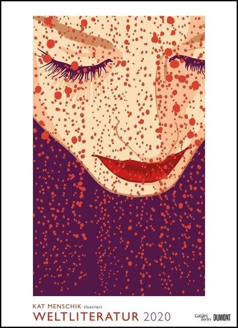 Kat Menschik illustriert Weltliteratur - Literarischer Posterkalender in Bildern 2020