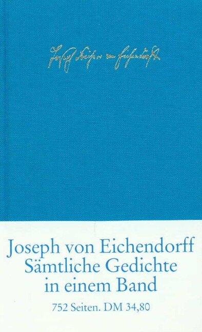 Sämtliche Gedichte und Versepen - Joseph von Eichendorff