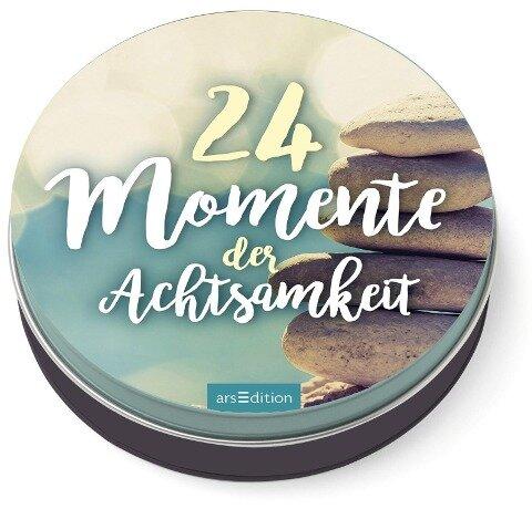 24 Momente der Achtsamkeit - Ein Adventskalender in der Dose mit 24 Anti-Stress-Kärtchen für den Advent -