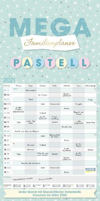 Mega Familienplaner Pastell 2021 -