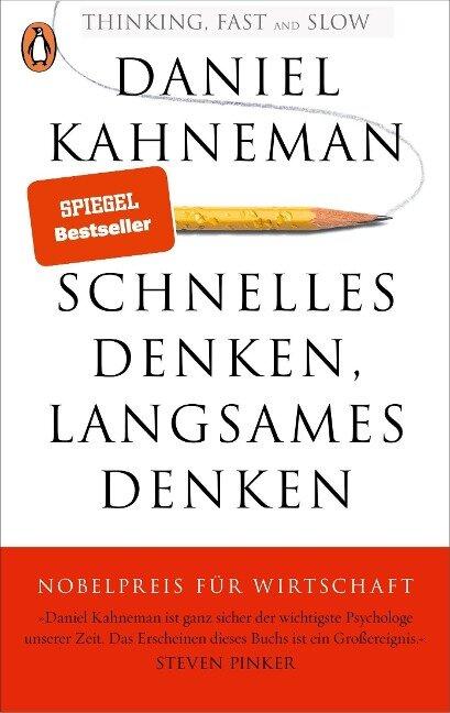 Schnelles Denken, langsames Denken - Daniel Kahneman