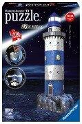 Leuchtturm bei Nacht. 3D-Puzzle 216 Teile -