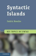 Syntactic Islands - Cedric Boeckx