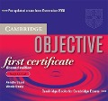 Objective First Certificate Audio CD Set (3 Cds) - Annette Capel, Wendy Sharp