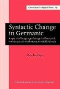 Syntactic Change in Germanic - Kate Burridge