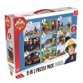 Fireman Sam 9 in 1 Puzzle Mix - 2x12/2x24/3x35/2x50 Teile -