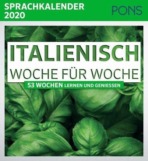 PONS Sprachkalender 2020 Italienisch Woche für Woche -