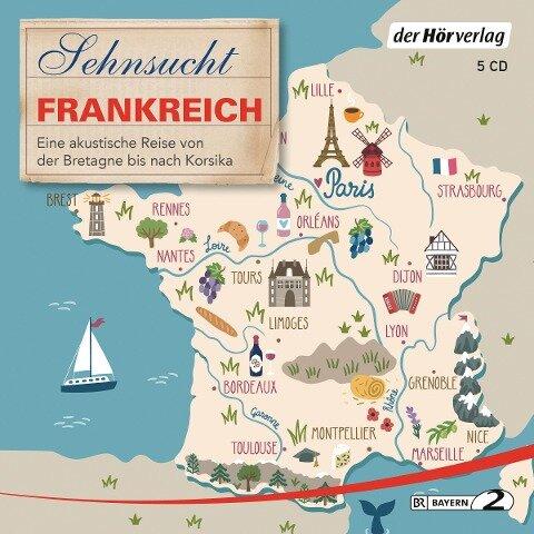 Sehnsucht Frankreich 5 CD - Thomas Grasberger, Manfred Schuchmann, Till Ottlitz, Francine Singer