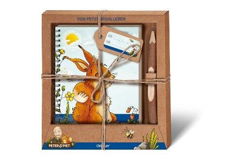 Peter & Piet. Geschenkset Notizbuch & Zweigstift - Peter Wohlleben