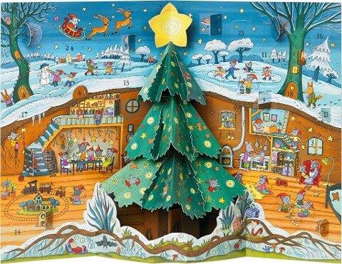 Weihnachten bei Familie Maus Pop-up-Adventskalender - Daniela Kulot